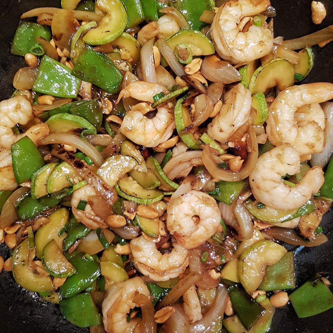 Kung pao shrimp done!