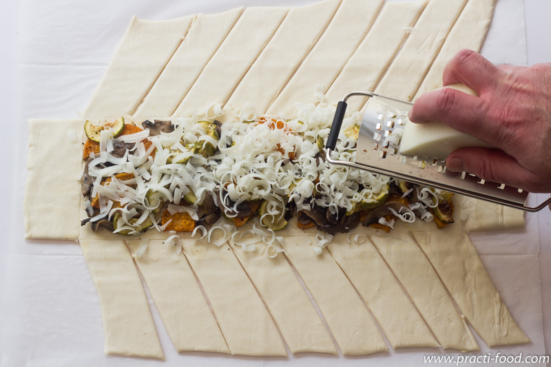 צמת פיצה מבצק עלים