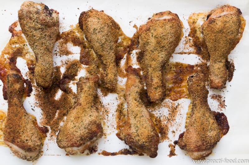 עוף בפרורי לחם