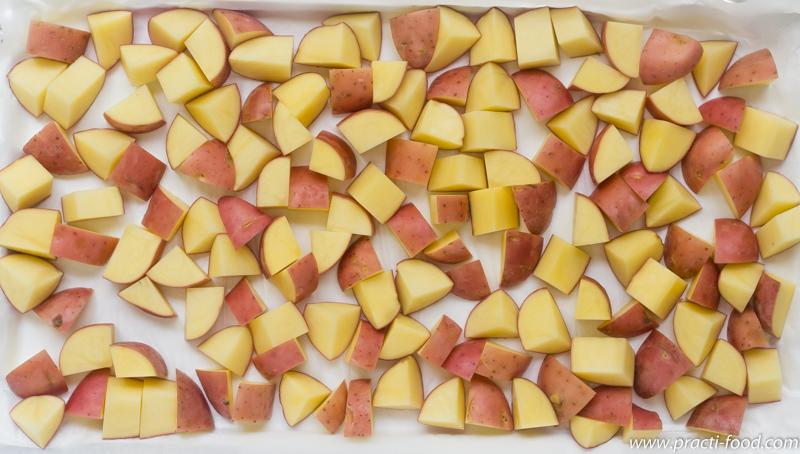 תפוחי אדמה חתוכים