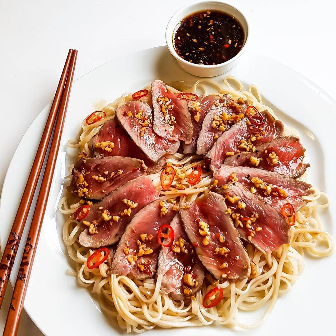 Beef Tataki for a hot Saturdayhellip