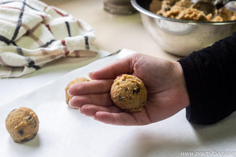 עוגיות שוקולד צ'יפס גלגול