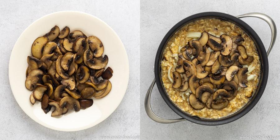 מציה עם גבינה ופטריות